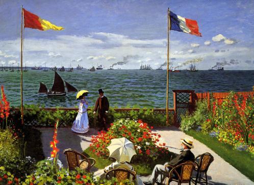 Claude Monet. Terrasse à Sainte-Adresse (1867)