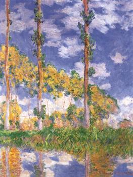 Claude Monet. Trois peupliers, été (1891)