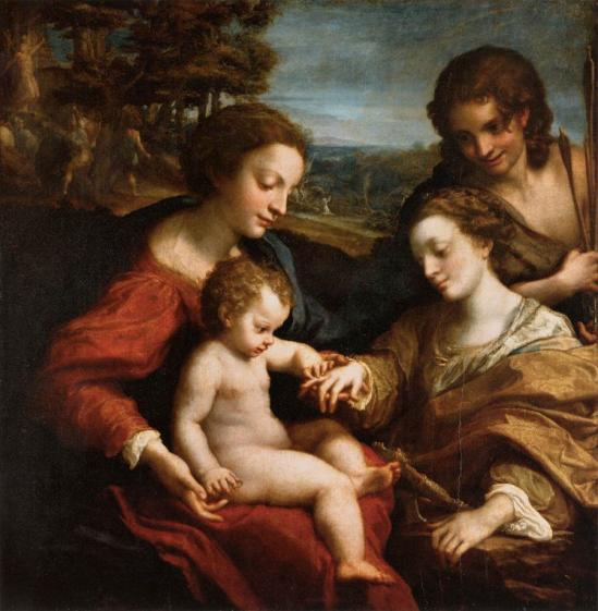Corrège. Le mariage mystique de Sainte Catherine (1526-27)