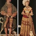 Cranach l'Ancien. Henri le Pieux et Catherine de Mecklenbourg (1514)