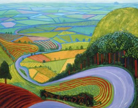 David Hockney. Garrowby Hill (1998)