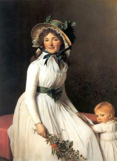 David. Portrait d'Émilie Sériziat et son fils (1795)