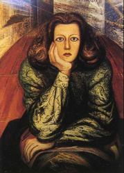 David Siqueiros. Portrait de Margarita Urueta (1947)