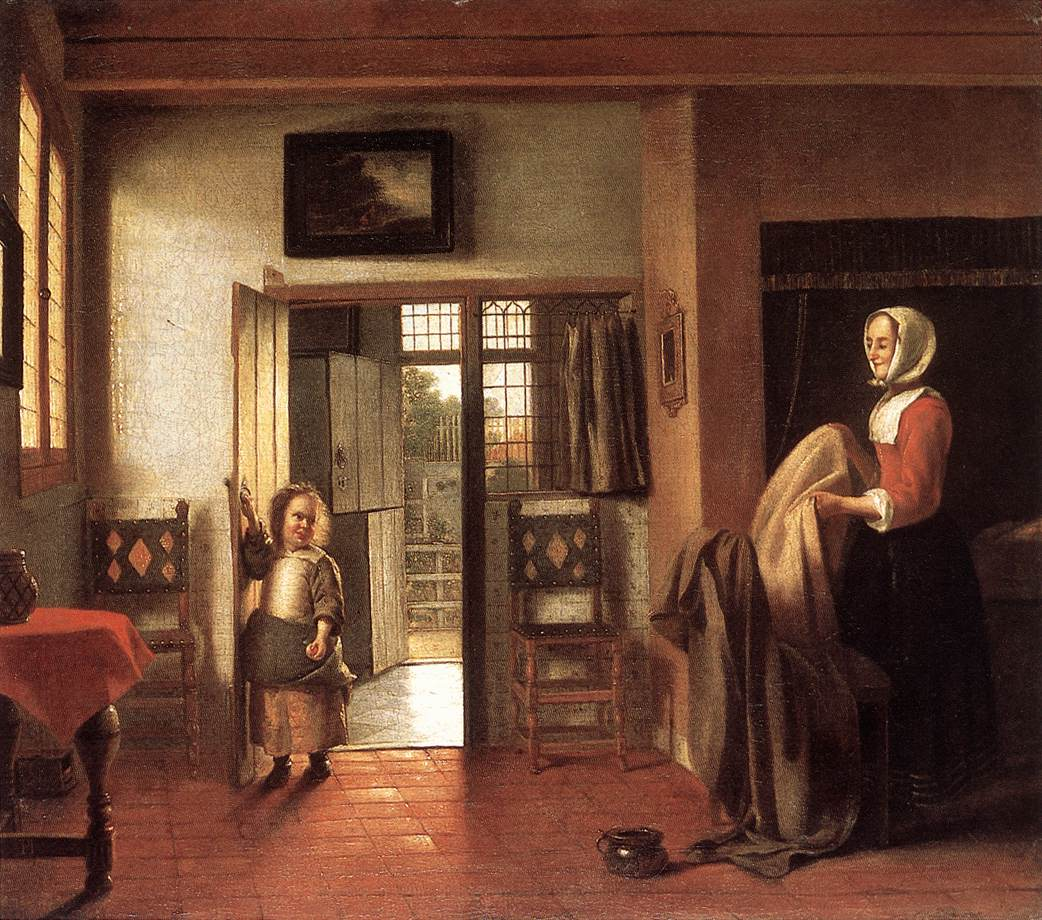 Biographie et uvre de pieter de hooch for Photo a la chambre