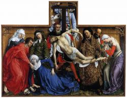 Van der Weyden. Descente de croix (1435)
