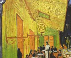 Détail, l'auvent et le mur éclairés (1888)