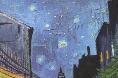 Vincent van Gogh. Terrasse de café le soir (1888), détail
