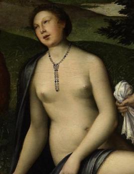 Diane au bain, détail. Catherine de Médicis en nymphe