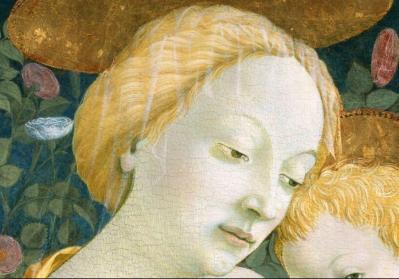 Domenico Veneziano. Vierge à l'Enfant (1445-50), détail
