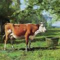 Julien Dupré. La vache à l'abreuvoir (1880-1910)