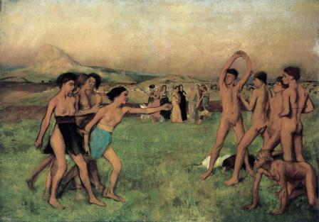 Edgar Degas. Jeunes spartiates à l'exercice (v. 1860)
