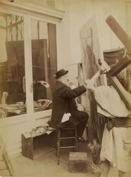 Edmond Bénard. Bouguereau dans son atelier (1880-1900)