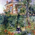 Édouard Manet. Jeune fille au jardin de Bellevue (1880)