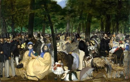 Édouard Manet. La Musique aux Tuileries (1862)