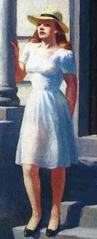 Edward Hopper. Summertime, détail