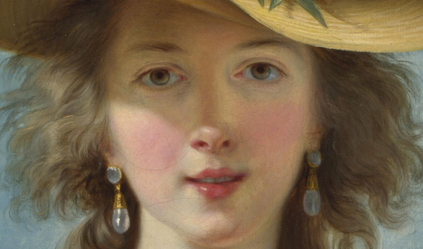 Très Vigée-Le Brun. Autoportrait au Chapeau de Paille (1782) VS85