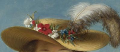 Elisabeth Vigée-Le Brun. Autoportrait au Chapeau de Paille, détail