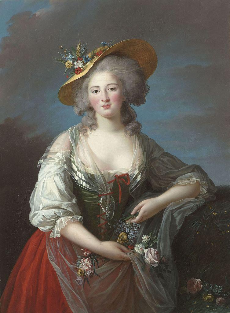 Exceptionnel Vigée-Le Brun. Autoportrait au Chapeau de Paille (1782) HF22