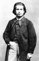 Etienne Carjat. Photographie de Claude Monet à 25 ans (1865)