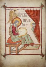 Évangéliaire de Lindisfarne folio 25v (690-721)