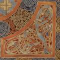 Évangéliaire de Lindisfarne (v. 690-721) folio 94v, détail 2