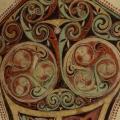 Évangéliaire de Lindisfarne (v. 690-721) folio 95r, détail