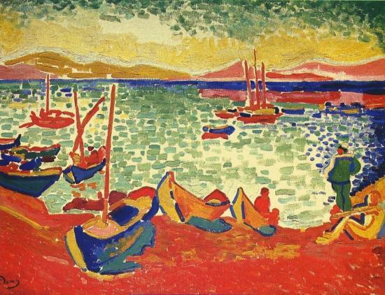 Derain. Bateaux dans le Port, Collioure 1905