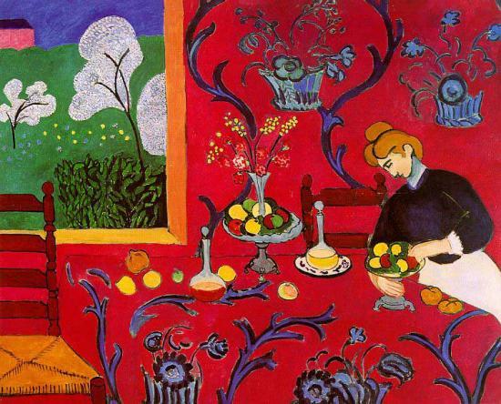 Matisse. La Desserte rouge, 1908