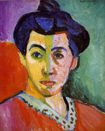 Matisse. La Raie verte, Portrait de Madame Matisse, 1906