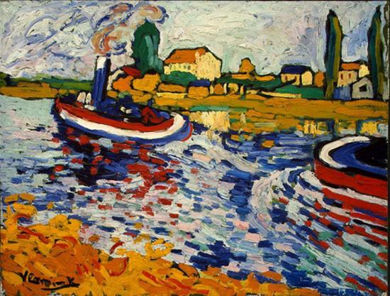 Vlaminck. Remorqueur sur la Seine, Chatou, 1906