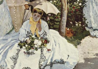 Femmes au jardin, détail