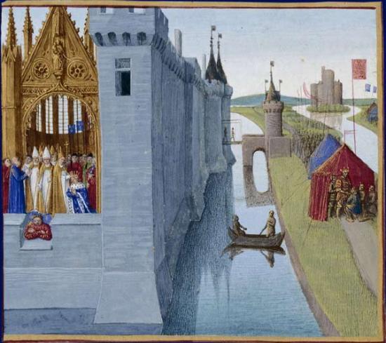 Fouquet. Chroniques de France. Couronnement de Louis VI le Gros (1455-60)