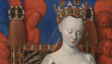 Jean Fouquet. Diptyque de Melun, détail (1452-58)