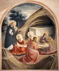 Fra Angelico. Fresques de San Marco. Lamentation sur le Christ mort (1440-41)