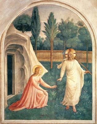 Fra Angelico. Fresques de San Marco. Noli me tangere (1440-41)
