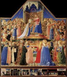 Fra Angelico. Le couronnement de la Vierge (v. 1434-35)