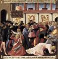 Fra Angelico. Panneau de la jeunesse du Christ, le massacre des Innocents (1451-52)