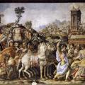 Francesco Salviati. Histoires de Camille, détail (1543-45)