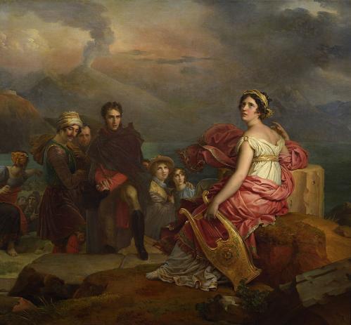François Gérard. Corinne au Cap Misène (1819-1821)