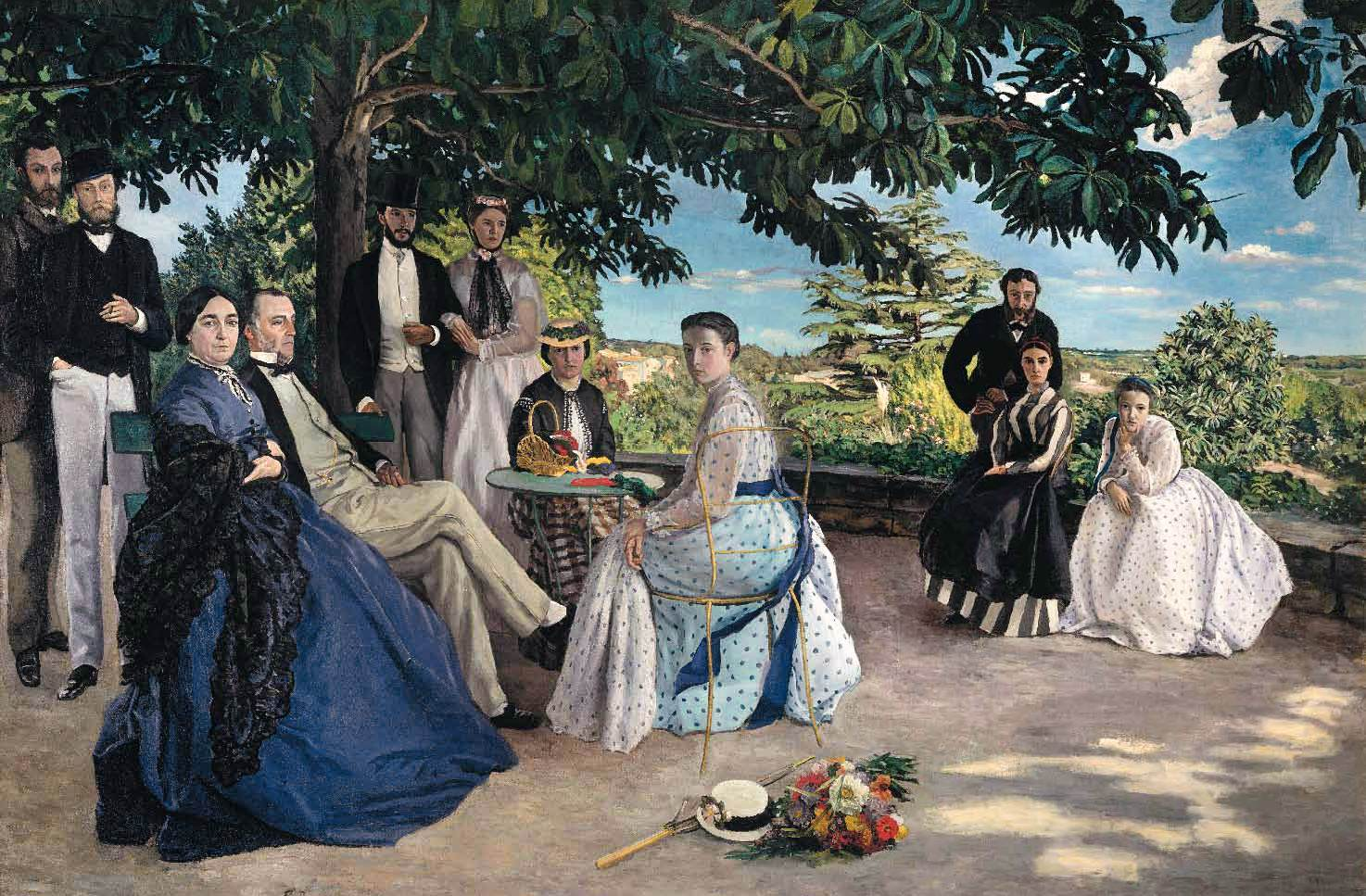 fr d ric bazille r union de famille 1867. Black Bedroom Furniture Sets. Home Design Ideas