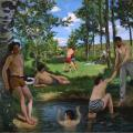 Frédéric Bazille. Scène d'été: les baigneurs (1869)