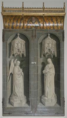 Nicolas Froment. Triptyque du Buisson ardent, fermé (1476)