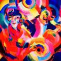 Sonia Delaunay. Chanteurs Flamenco, 1916
