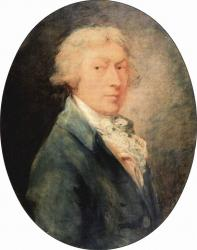 Gainsborough. Autoportrait, 1787