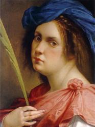 Gentileschi. Autoportrait en martyre (1615)