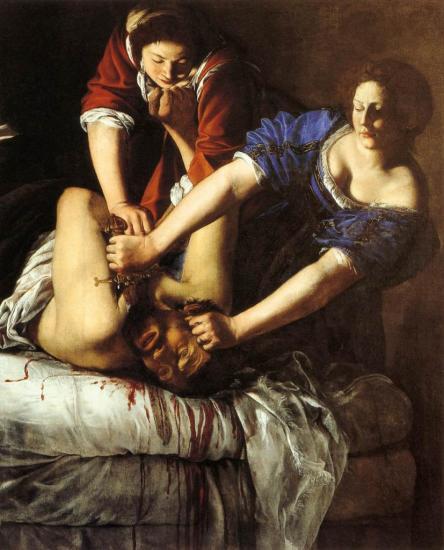 Gentileschi. Judith décapitant Holopherne (1620)