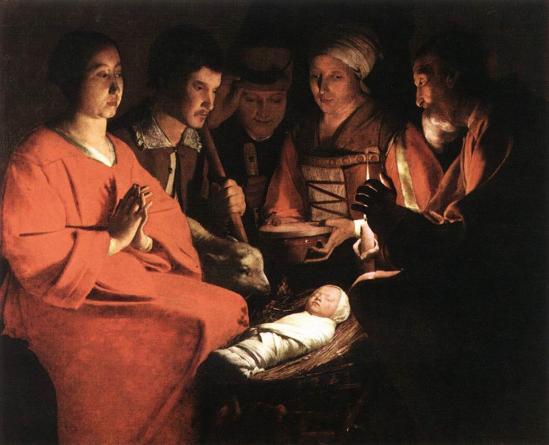 Georges de La Tour. L'adoration des bergers (1644)