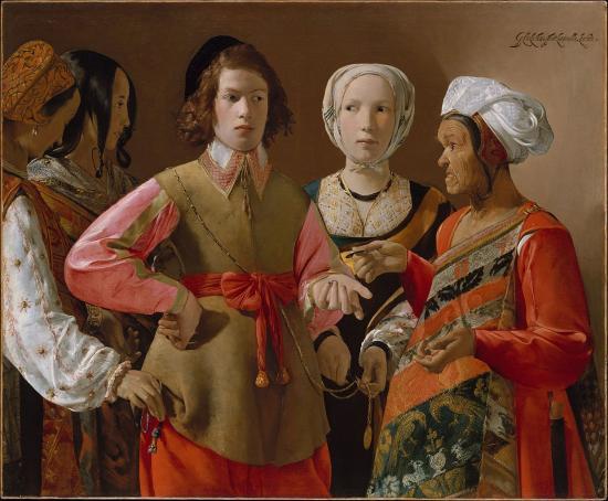 Georges de La Tour. La Diseuse de bonne aventure (1633-39)
