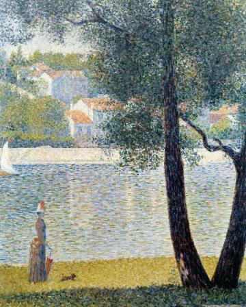 Georges Seurat. La Seine à Courbevoie (1885)