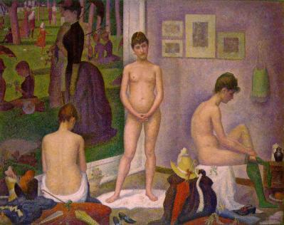 Georges Seurat. Les poseuses (1886-88)